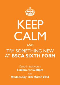 Find out more from BSCA Sixth Form!