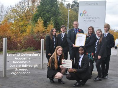 Some exciting news from Bolton St Catherine's Academy to share
