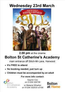 'Bill' comes to Film Club on Wednesday 23rd March